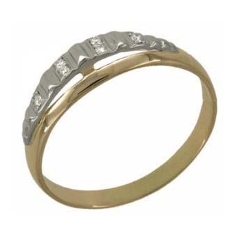 Кольцо с 6-ю бриллиантами