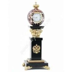 Настольные часы с шаром (камень: креноид)