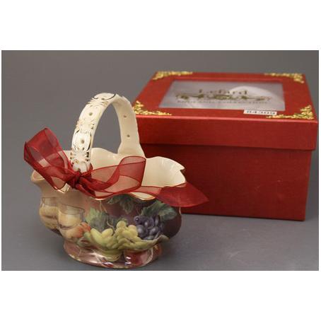Конфетница «Ваза с фруктами и бокалом белого вина»