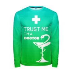 Мужской лонгслив Trust me, i'm a doctor