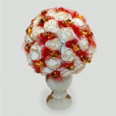 Цветы из янтаря Янтарный букет