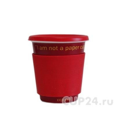 Эко-кружка I'm not a paper cup (красная)