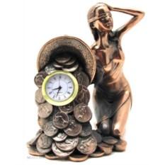 Статуэтка с часами Фортуна (16 см)