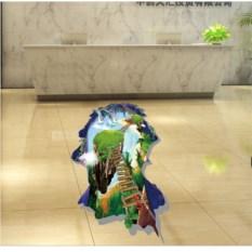 Напольный 3D-стикер Лестница