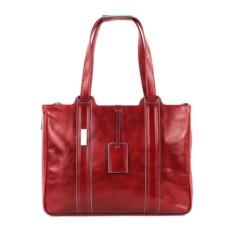 Женская красная сумка для ноутбука Piquadro Blue Square