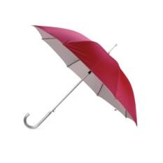 Красный полуавтоматический зонт-трость с алюминиевой ручкой