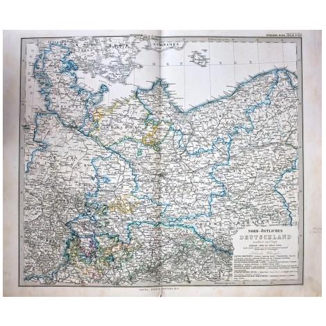Антикварная карта Северо-восточной Германии