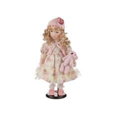 Фарфоровая кукла с мягконабивным туловищем, высота 41 см