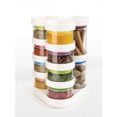 Белый набор ёмкостей для специй Spice Store™ Carousel
