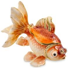 Металлическая шкатулка Золотая рыбка