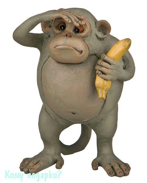 Фигурка «Обезьяна с бананом» (7,5x6x11 см)