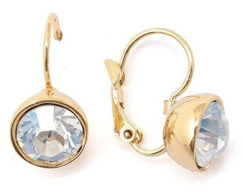 Серьги с кристаллом Swarovski Бриллиант