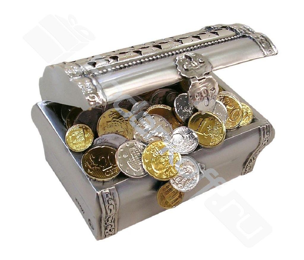 Статуэтка «сундучок богатства» с позолотой