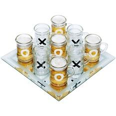 Игра «Пьяные крестики-нолики» (с кружками)