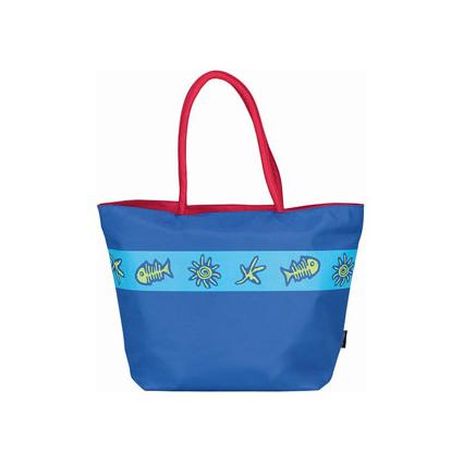 Пляжная сумка синяя