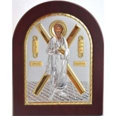 Серебряная икона Андрей Первозванный Святой Апостол