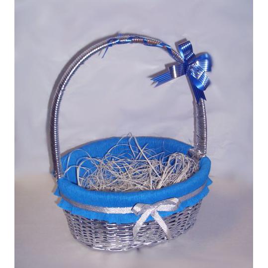 Корзина для упаковки подарков «Серебряная»