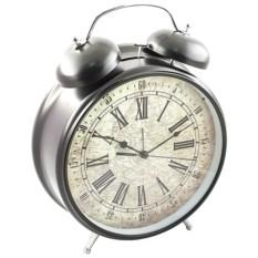 Часы - Будильник ГИГАНТ серебрянный