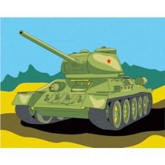 Картина по номерам «Танк Т-34»