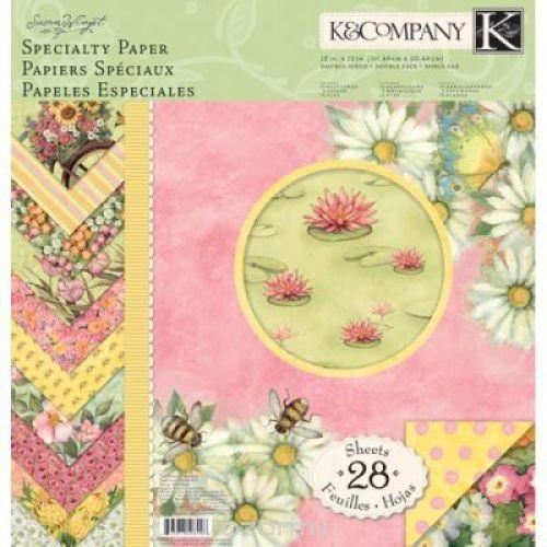 Набор бумаги для скрапбукинга K&Company Весна, 28 листов