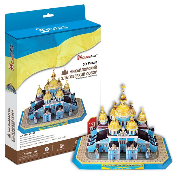 3D пазл Cubic Fun Михайловский златоверхий собор (Киев)