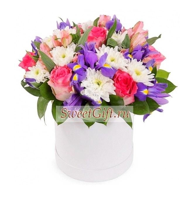 Цветы в шляпной коробке Микс 2