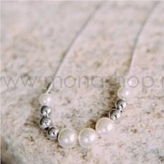 Серьги с розовыми кристаллами Сваровски «Лабиринт»