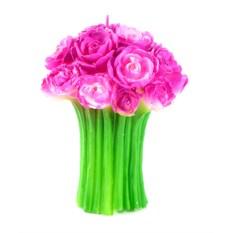 Большая свеча Букет роз
