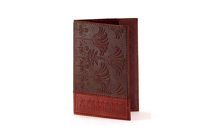 Обложка для паспорта «Хризантема»