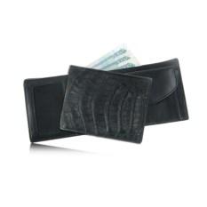 Мужской кошелек из кожи спины каймана с карманом для мелочи