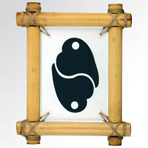 Пано с иероглифом «Взаимная любовь» 15х20 см