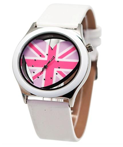 Белые часы UK Love