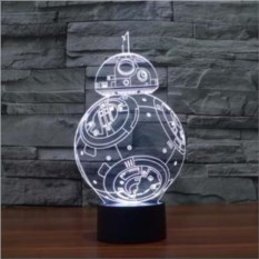 3D лампа Дроид BB-8