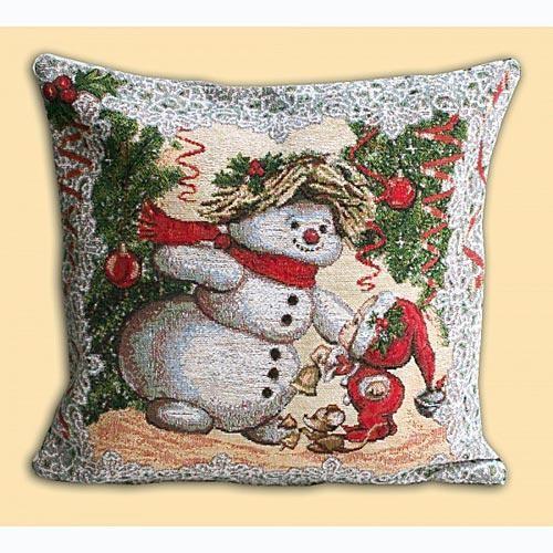 Подушка Снеговик и компания