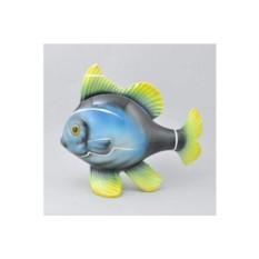 Фарфоровая статуэтка Синяя рыбка клоун
