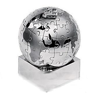 Головоломка-пазл на магнитах Земной шар с паровозом