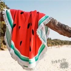 Круглое пляжное полотенце Арбуз