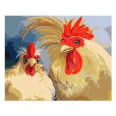 Картины по номерам «Кочет и курица»
