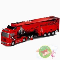 Радиоуправляемый красный грузовик с прицепом QY0202B