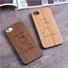Деревянный чехол для iPhone «Хозяин бесед» с гравировкой