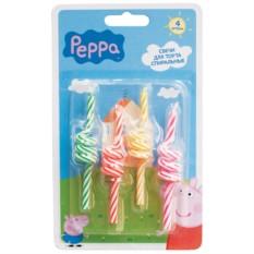 Набор спиральных свечей, Peppa Pig