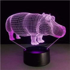 3D лампа Бегемот
