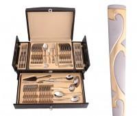 Столовый набор в деревянном чемодане, 72 предмета