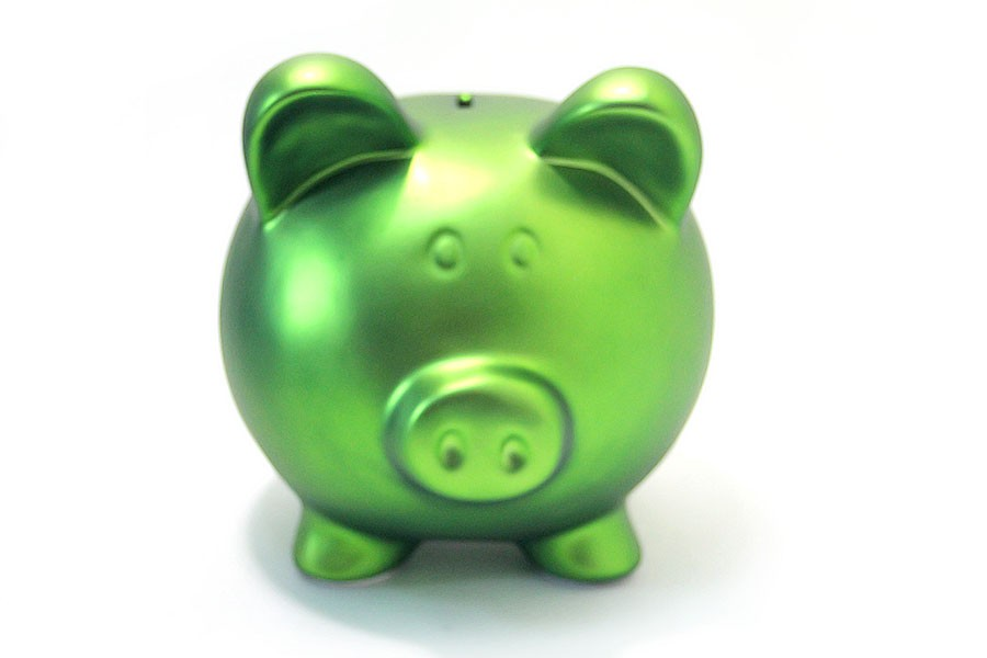 Копилка Свинья Green, зеленая