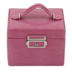 Розовая шкатулка для украшений с замком Champ Collection