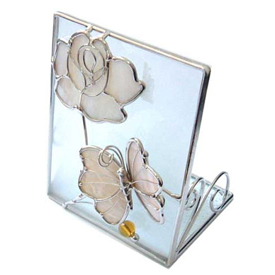 Подсвечник «Бабочка с розой»
