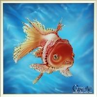 Картина с кристаллами Swarovski «Золотая рыбка»