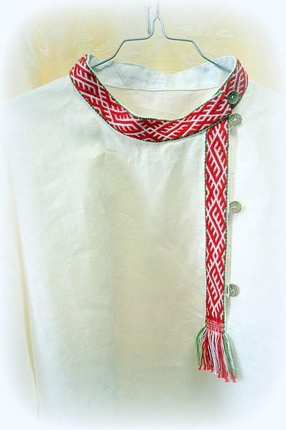 Льняная рубаха-косоворотка