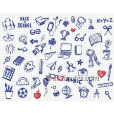 Лист виниловых наклеек А4 Школа