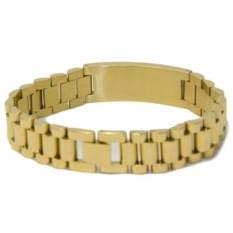 Золотистый мужской браслет